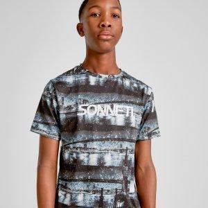 Sonneti New York Postcard T-Shirt Musta