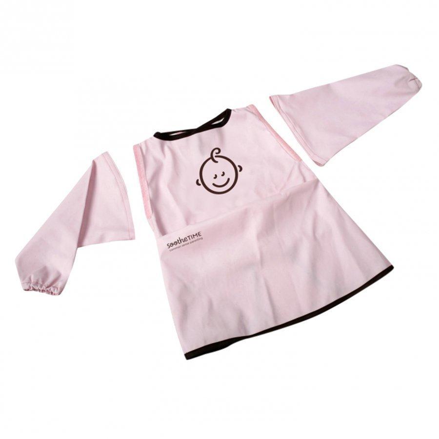 Soothetime Bib W. Sleeves Pink Ruokalappu