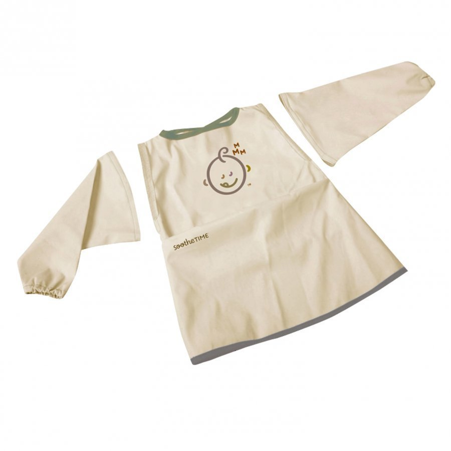 Soothetime Bib W. Sleeves Taupe Ruokalappu