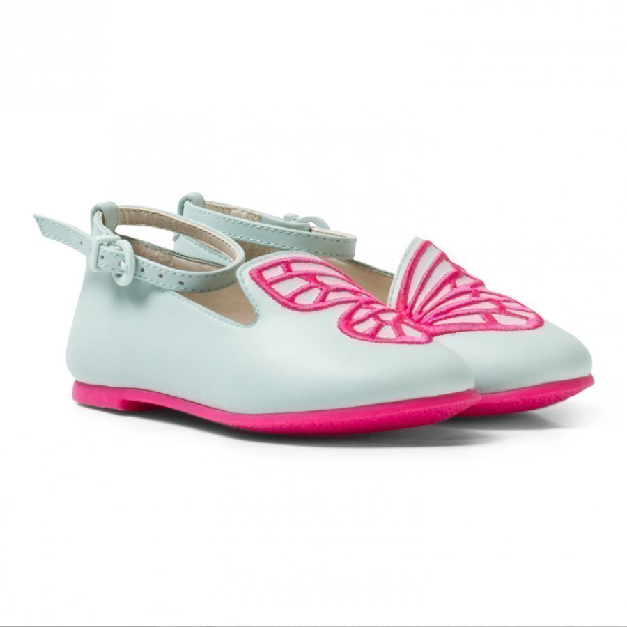 Sophia Webster Mini Bibi Butterfly Mini Spearmint Pink Pumps Ballerinat