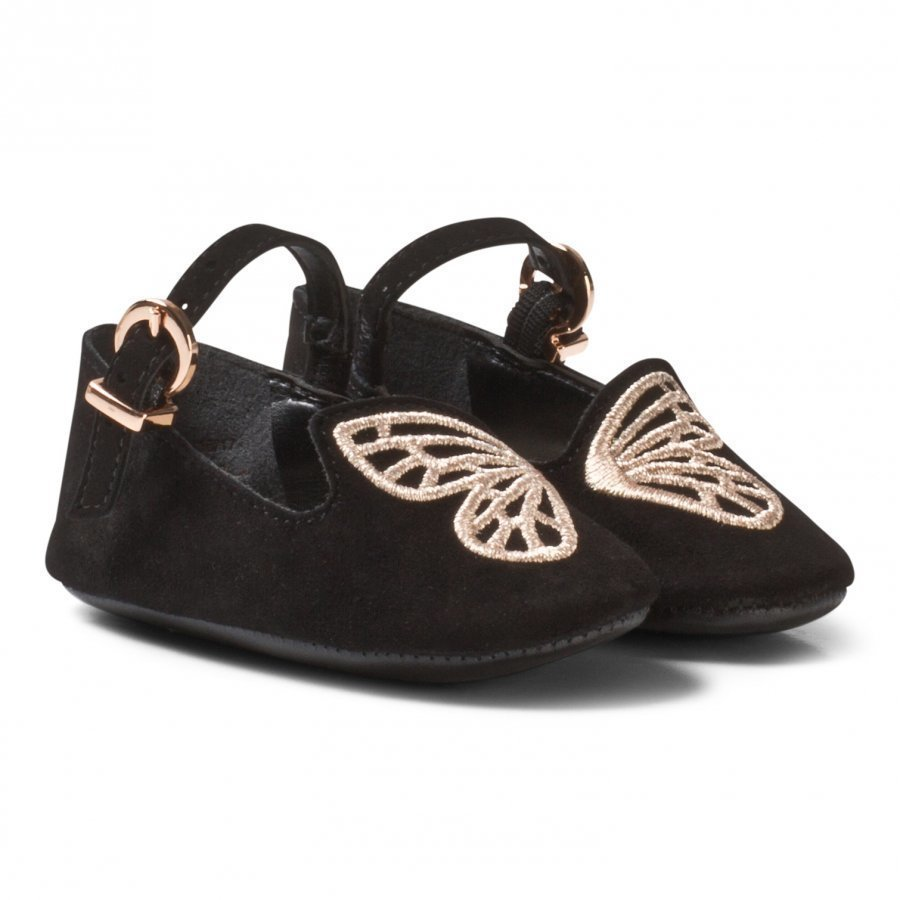 Sophia Webster Mini Black Bibi Butterfly Crib Shoes Vauvan Kengät