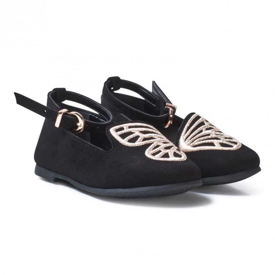 Sophia Webster Mini Black Bibi Butterfly Shoes Ballerinat