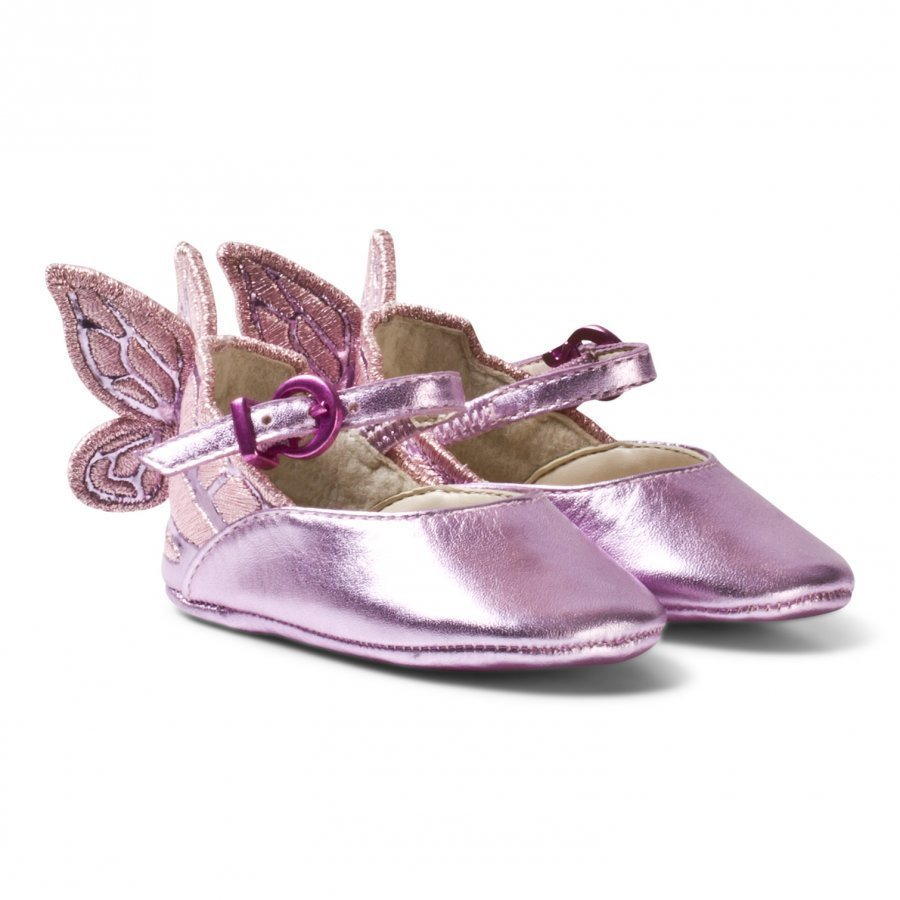 Sophia Webster Mini Chiara Embroidered Butterfly Crib Shoes Pink Vauvan Kengät