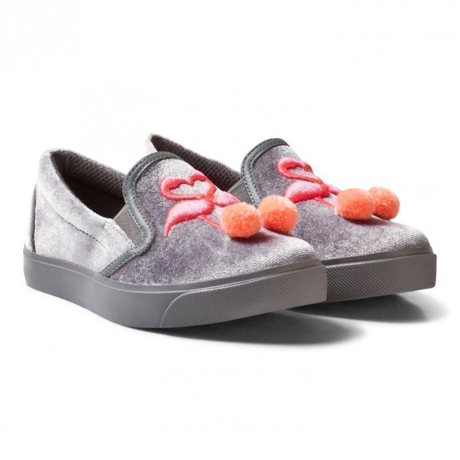 Sophia Webster Mini Kingston Flamingo Slip-Ons Gray Lenkkarit