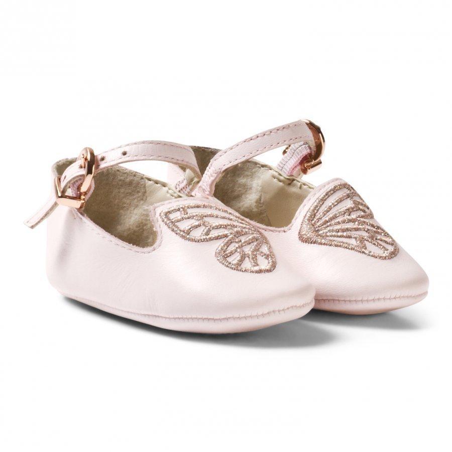 Sophia Webster Mini Pink Bibi Butterfly Crib Shoes Ballerinat