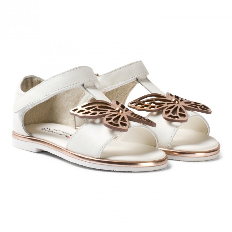 Sophia Webster Mini White Leather Flutterby Sandals Remmisandaalit