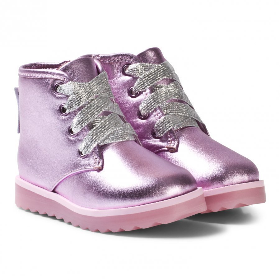 Sophia Webster Mini Wiley Ankle Boots Pink Metallic Nilkkurit