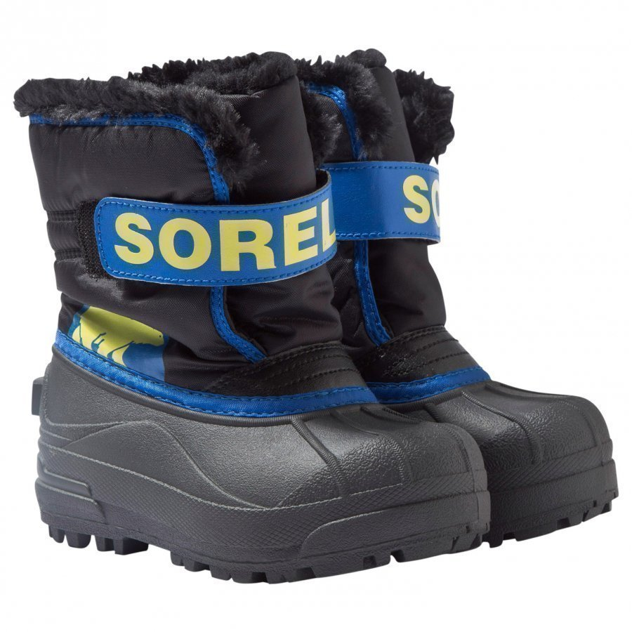 Sorel Snow Commander Talvisaappaat Mustat Super Blue Talvisaappaat