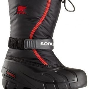 Sorel Talvisaappaat Flurry Youth Black/Red