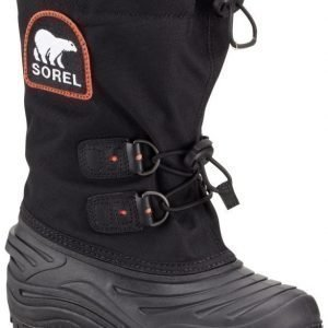 Sorel Talvisaappaat Super Trooper Youth Black Red Quartz