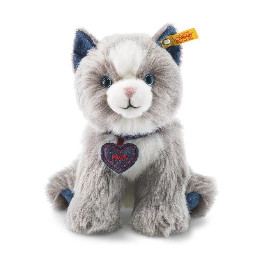 Steiff Kissa Paws Vaaleanharmaa / Valkoinen 21 Cm