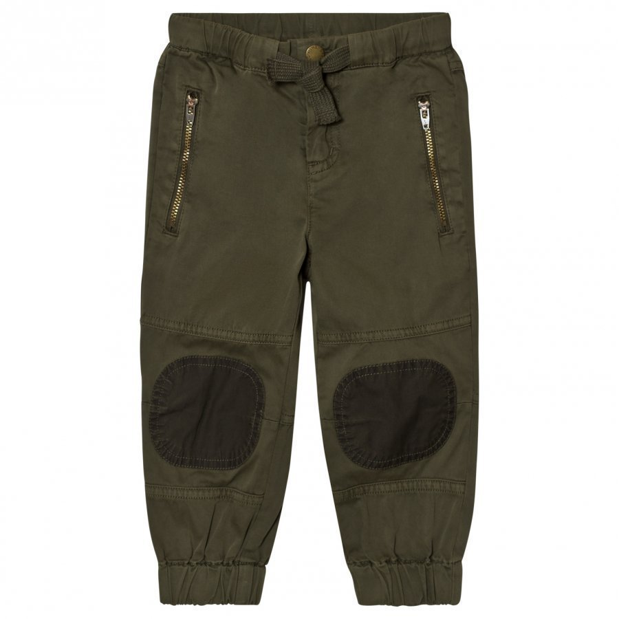 Stella Mccartney Kids Almond Khaki Patch Pants Cargo Housut