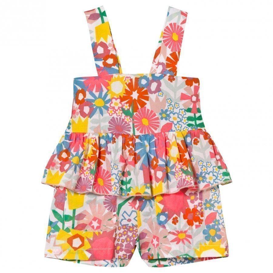 Stella Mccartney Kids Amie Floral Print Romper Puku