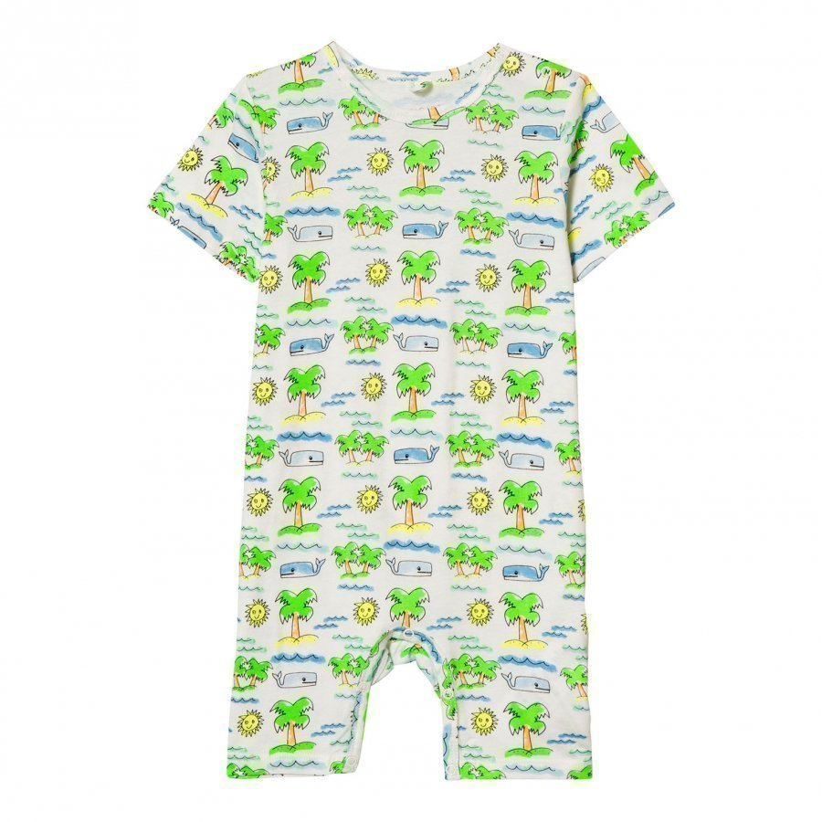 Stella Mccartney Kids Beach Print Romper Puku