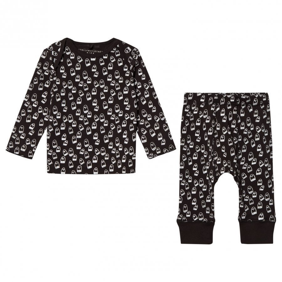 Stella Mccartney Kids Black All Over Print Set Asusetti