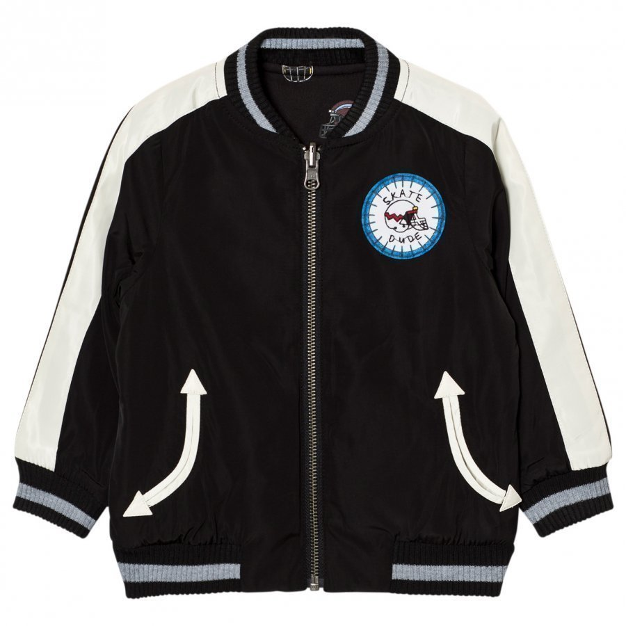Stella Mccartney Kids Black Eastwood Bomber Jacket Bomber Takki
