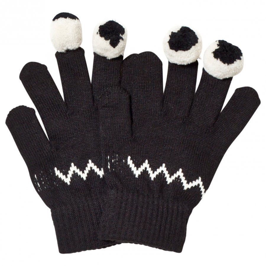 Stella Mccartney Kids Black Eye Gloves Villahanskat