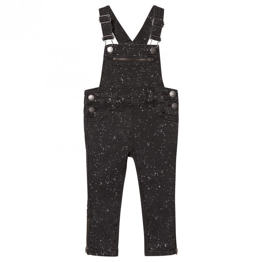 Stella Mccartney Kids Black Lake Overall Splat Dungarees Lappuhaalari