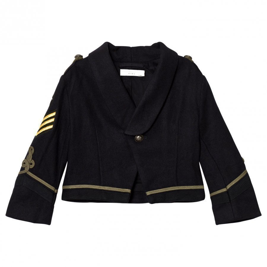 Stella Mccartney Kids Black Lee Military Jacket Armeijatakki