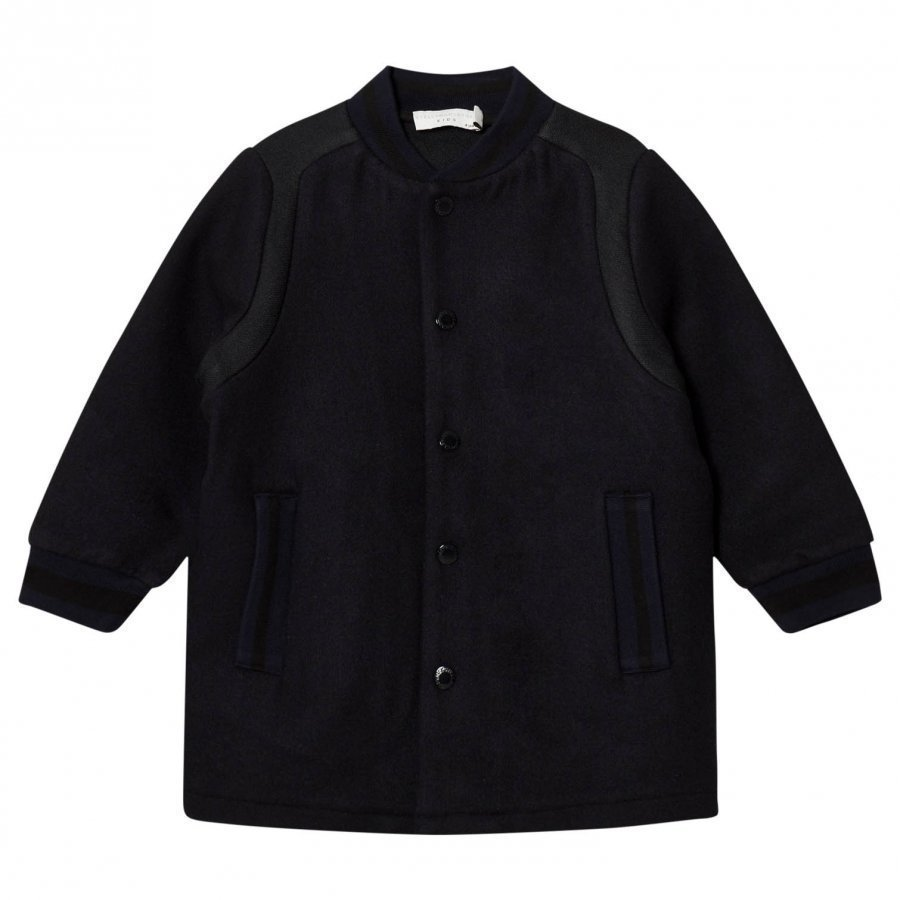 Stella Mccartney Kids Black Paxton Coat Bomber Takki