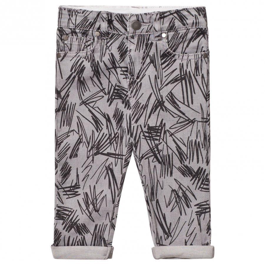 Stella Mccartney Kids Black Scribble Lohan Jeans Farkut