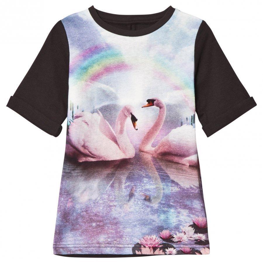 Stella Mccartney Kids Black Swan Hepsie Digital Dress Mekko