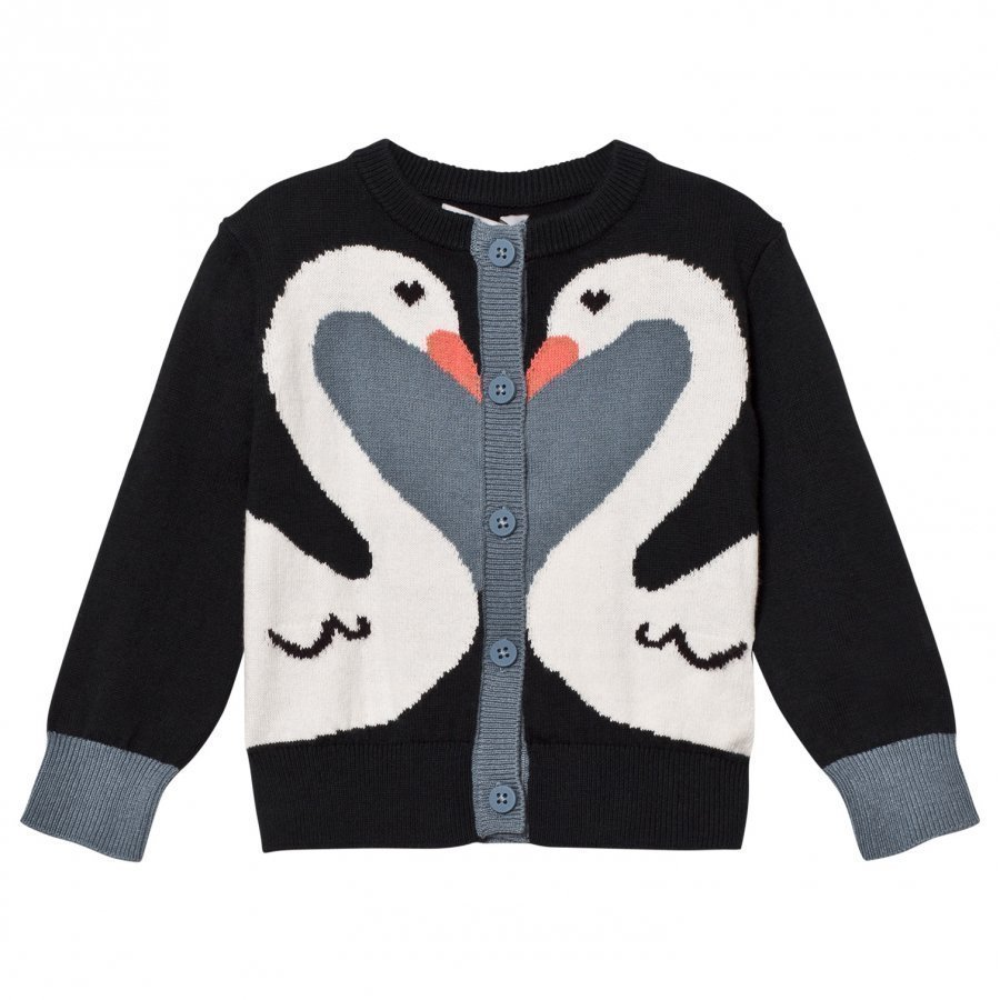 Stella Mccartney Kids Black Swan Lauren Cardigan Neuletakki