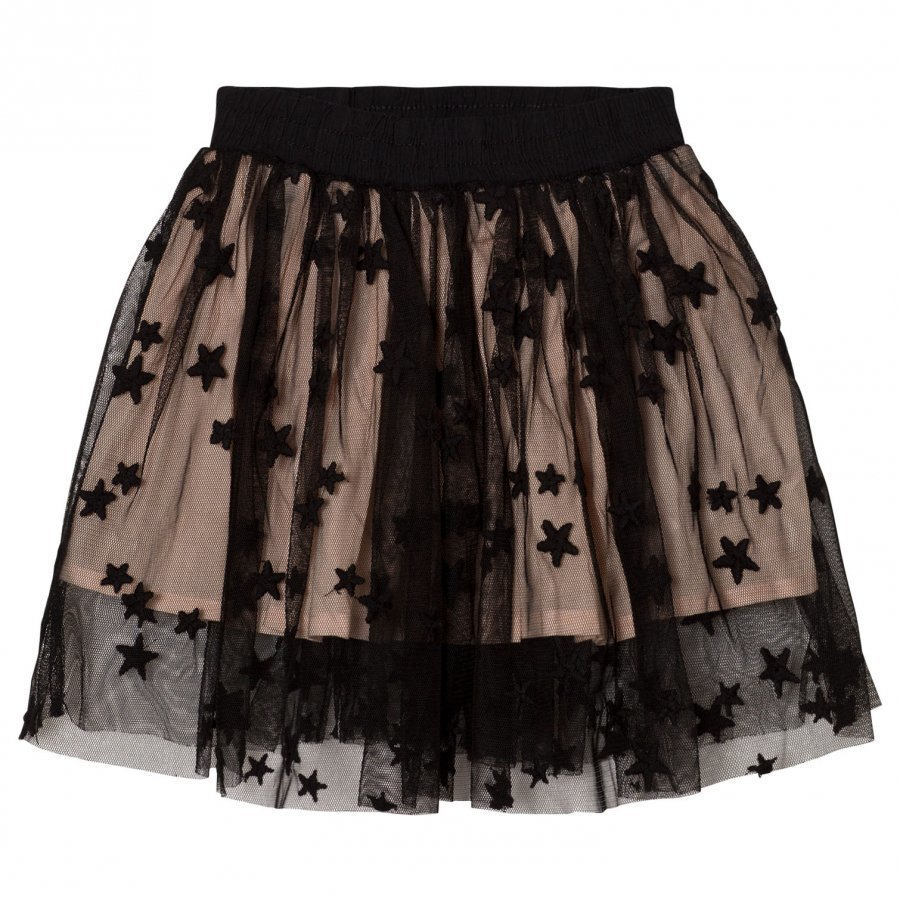 Stella Mccartney Kids Black Tulle Misty Skirt Midihame