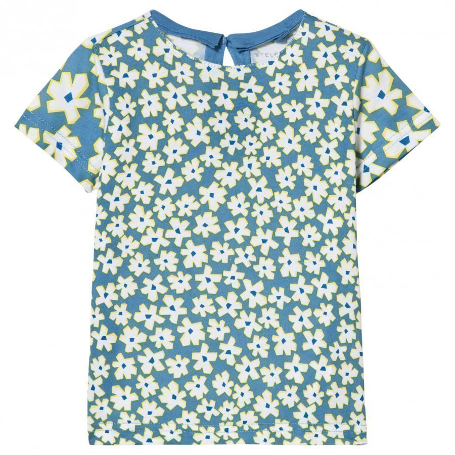 Stella Mccartney Kids Blue Daisy Print Tee T-Paita