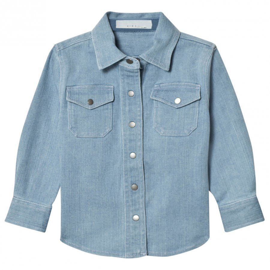 Stella Mccartney Kids Blue Denim Dallas Shirt Kauluspaita