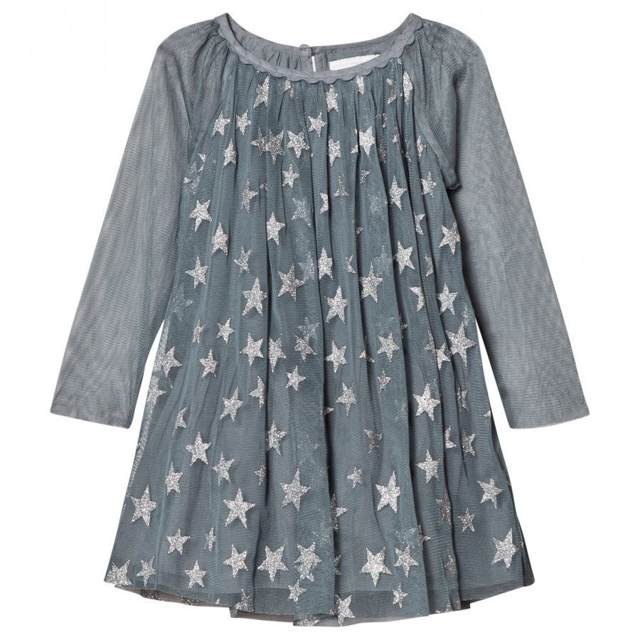 Stella Mccartney Kids Blue Glitter Misty Dress Juhlamekko