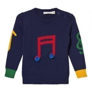 Stella Mccartney Kids Blue Musical Note Jumper Paita