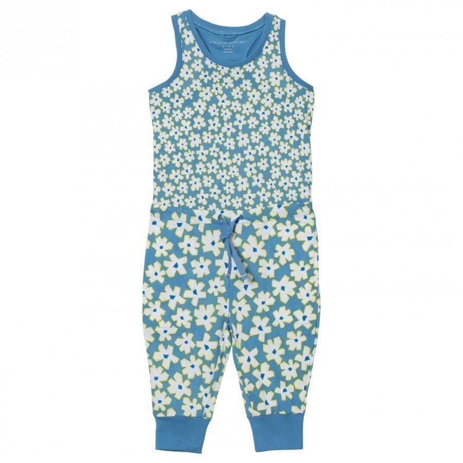 Stella Mccartney Kids Blue Overalls Daisy Print Lappuhaalari