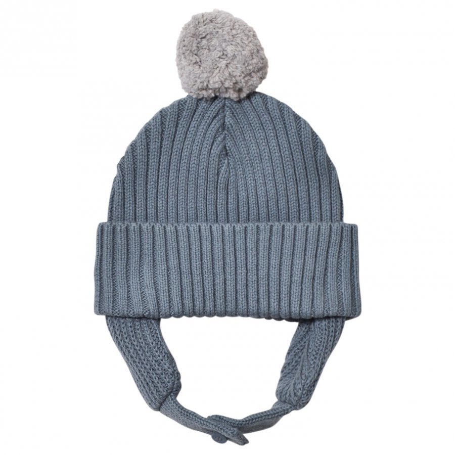 Stella Mccartney Kids Blue Pom Pom Sherry Hat Pipo