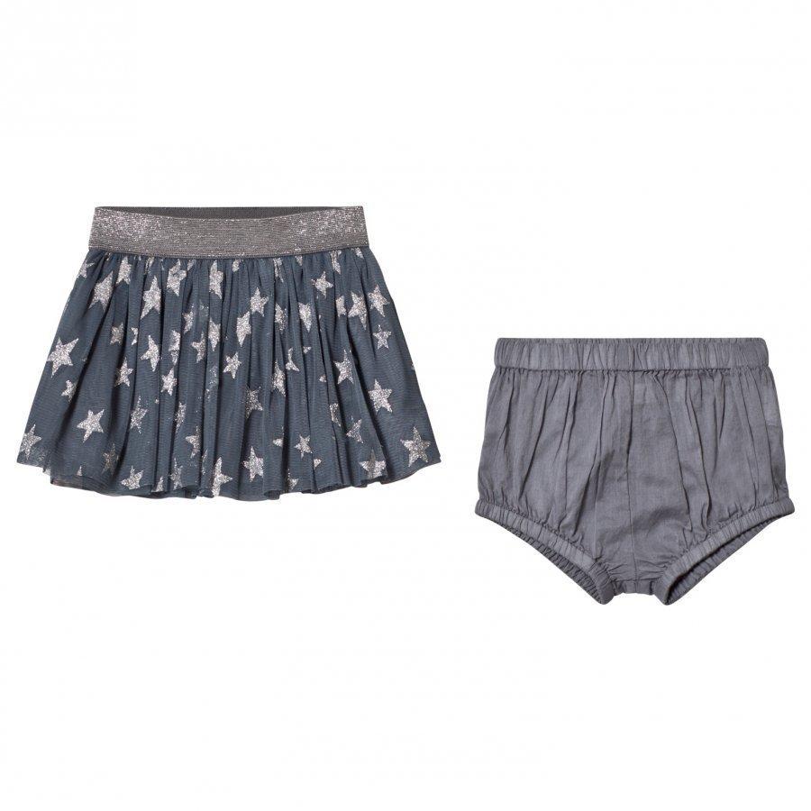 Stella Mccartney Kids Blue Star Print Honey Skirt Tyllihame