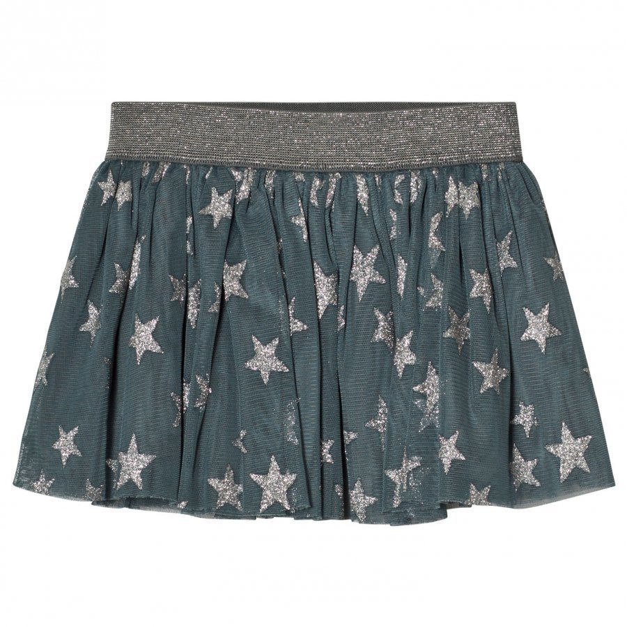 Stella Mccartney Kids Blue Stars Print Hone Skirt Lyhyt Hame