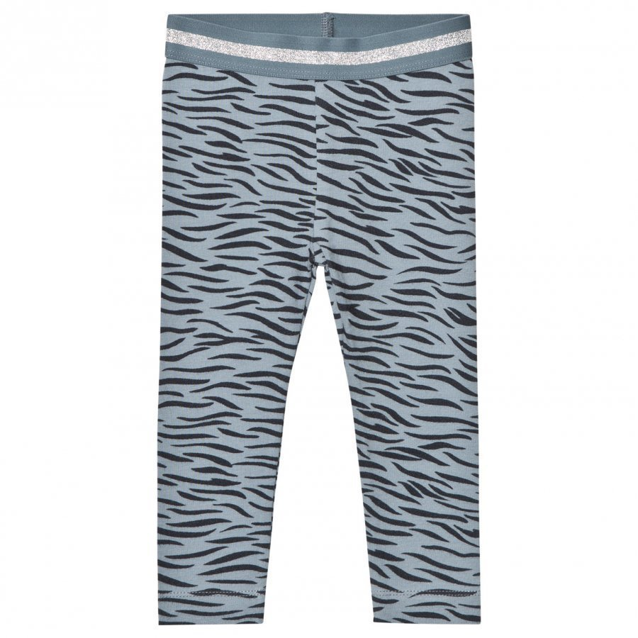 Stella Mccartney Kids Blue Tiger Print Tula Leggings Legginsit