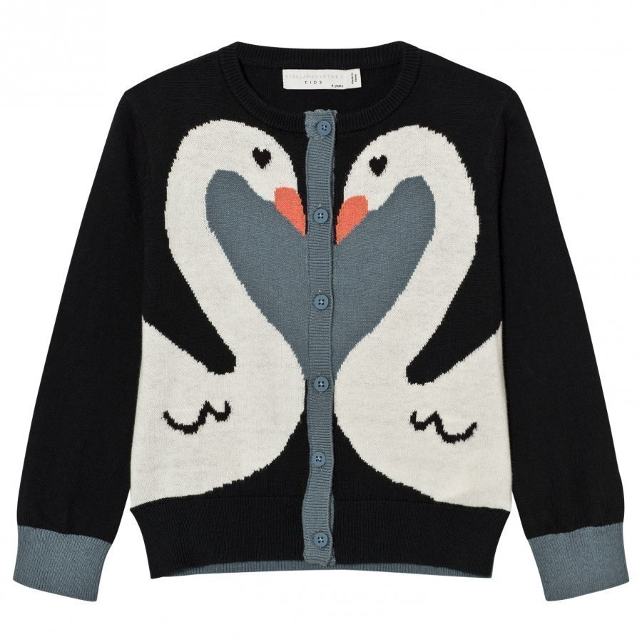 Stella Mccartney Kids Charcoal Swan Lauren Cardigan Neuletakki