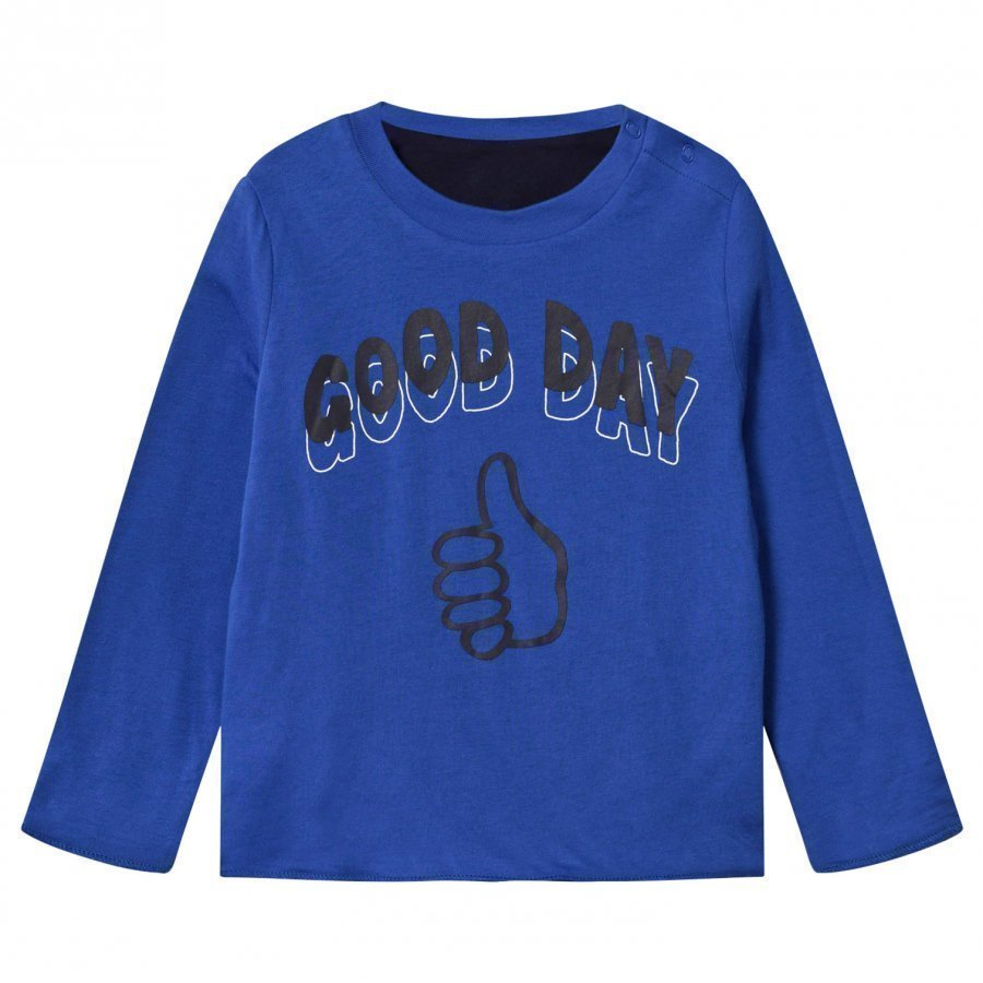 Stella Mccartney Kids Coby Reversible Tee Electric Blue Pitkähihainen T-Paita