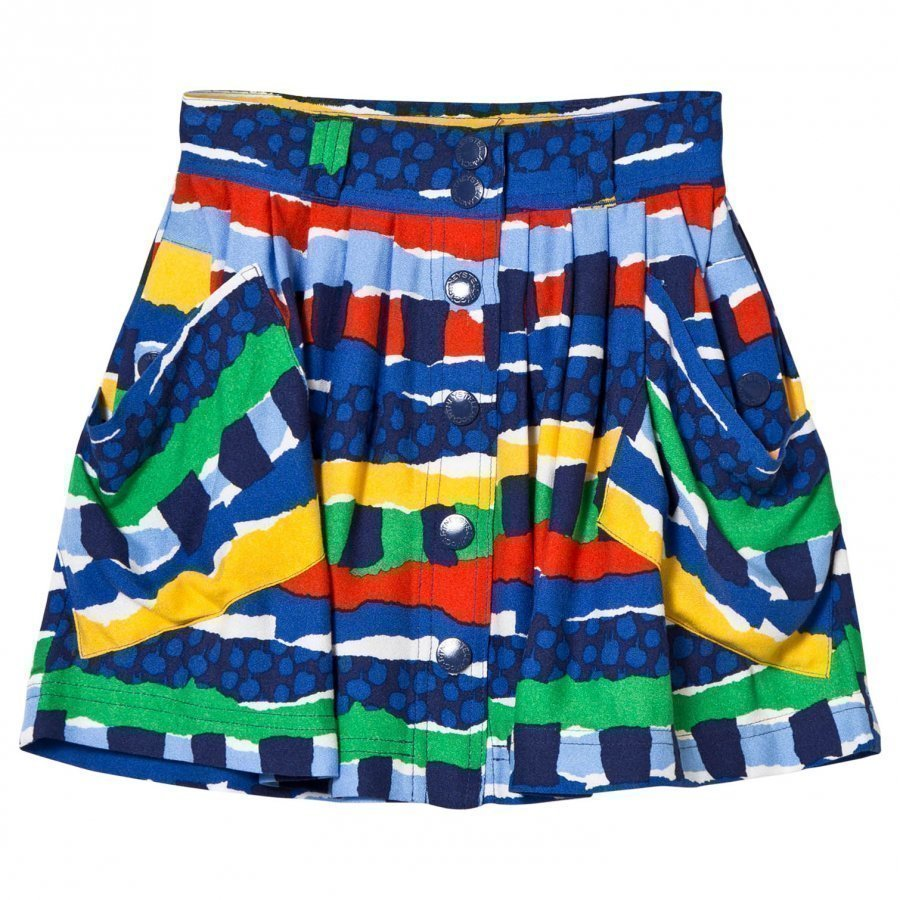 Stella Mccartney Kids Dollie Skirt Multi Rag Print Lyhyt Hame