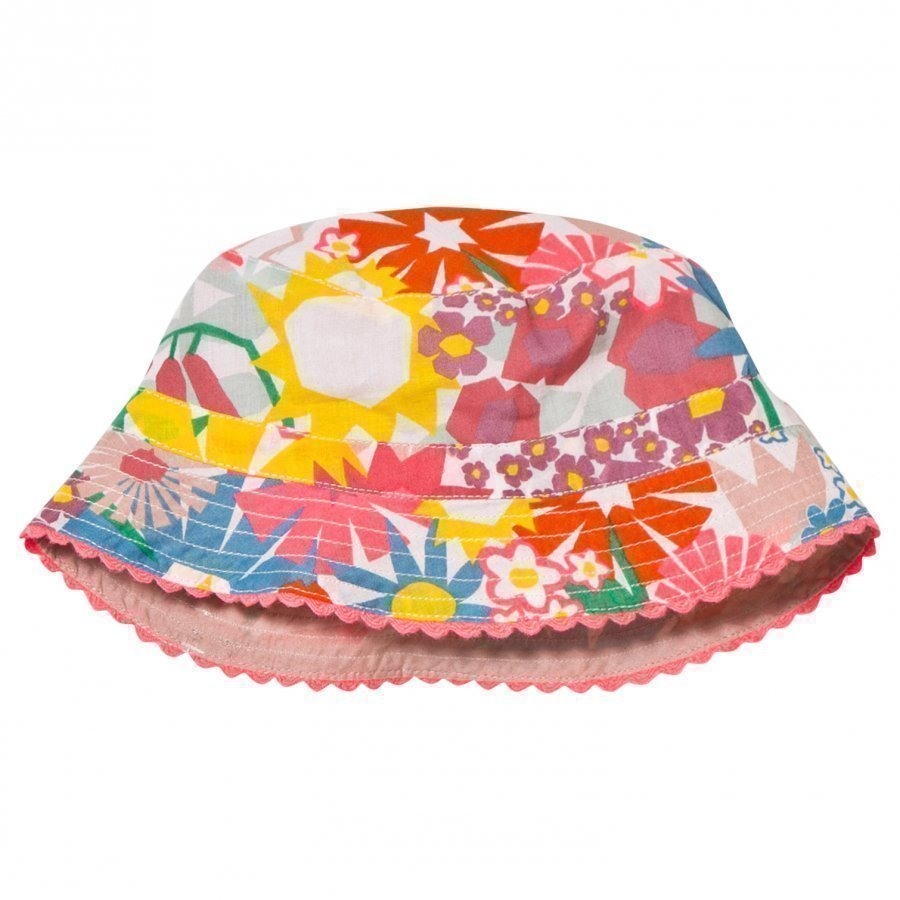 Stella Mccartney Kids Dolores Hat Pink Flower Print Aurinkohattu