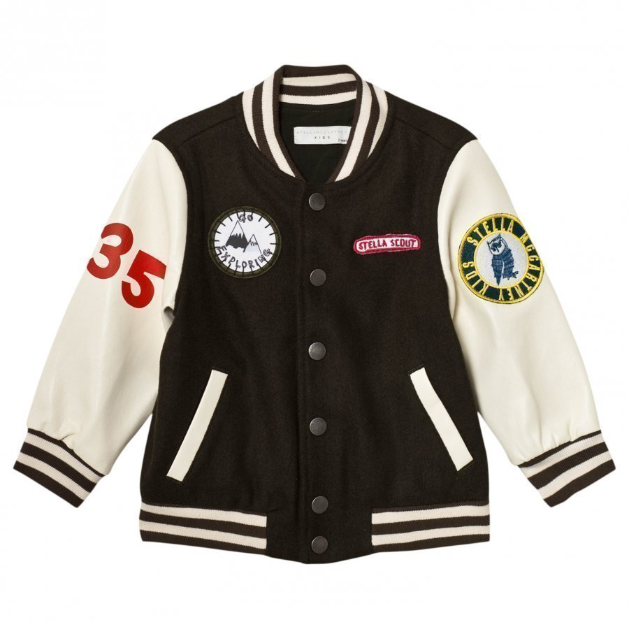 Stella Mccartney Kids Donald Varsity Jacket Khaki Bomber Takki