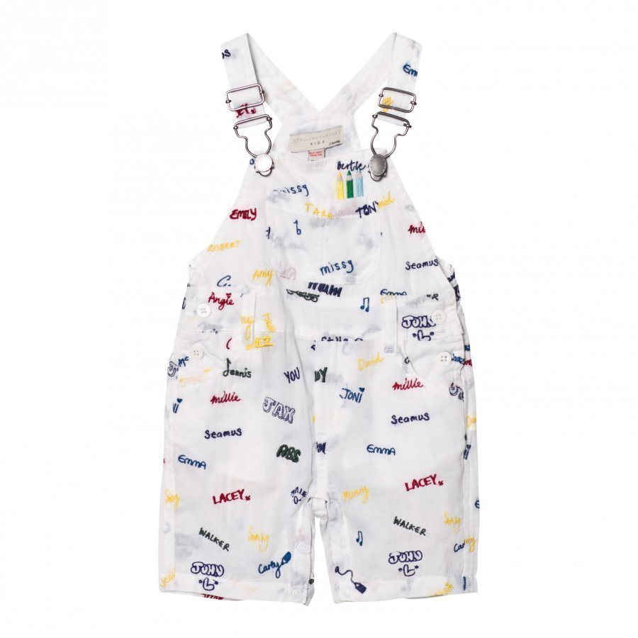 Stella Mccartney Kids Dungarees With Embroidered Names Lappuhaalari