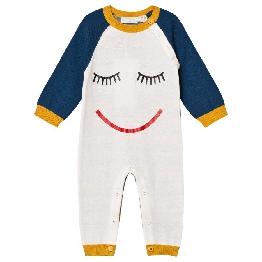 Stella Mccartney Kids Face Knit Tommy One-Piece Cream Body