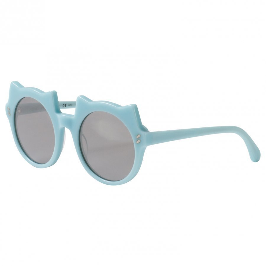 Stella Mccartney Kids Green And Silver Kitten Shape Sunglasses Aurinkolasit