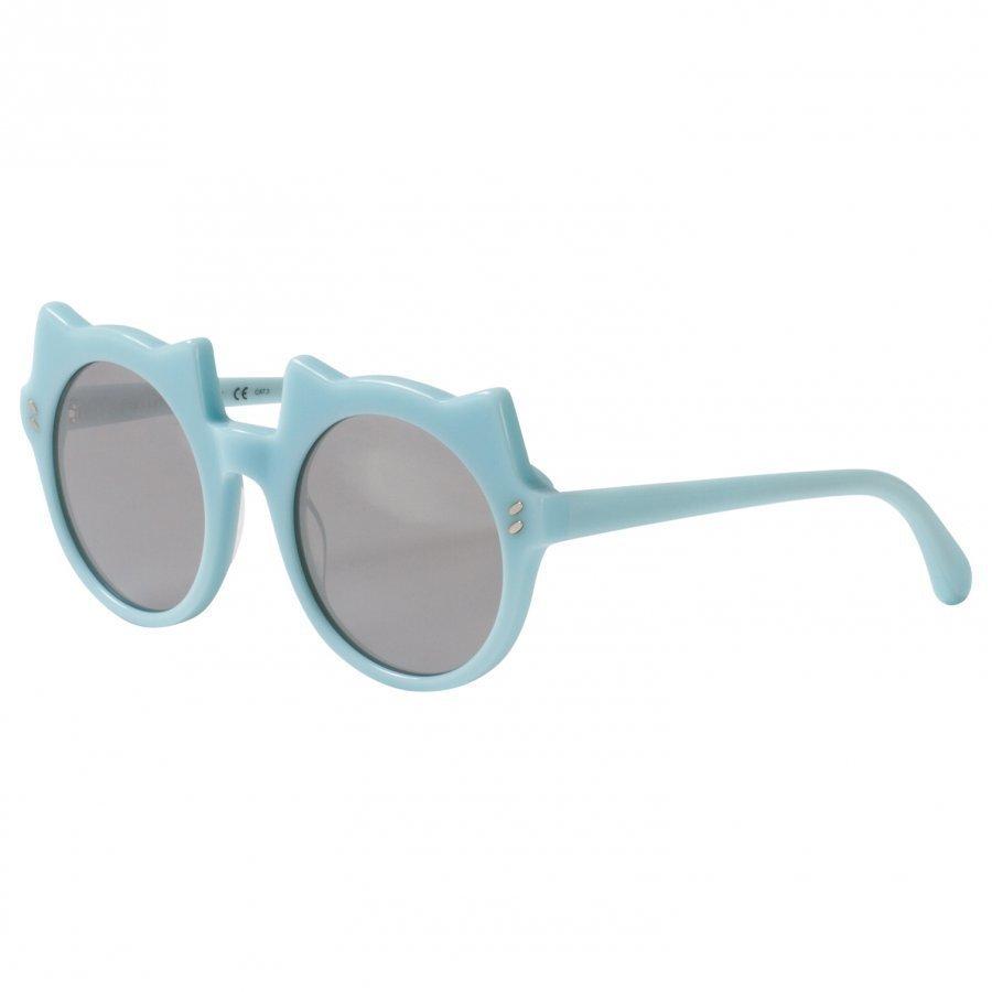 Stella Mccartney Kids Green And Silver Kitten Shape Sunglasses Aurinkolasit