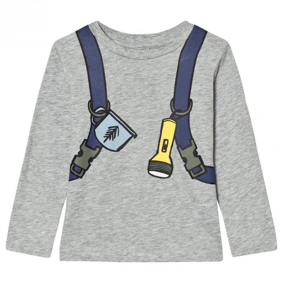 Stella Mccartney Kids Grey Back Pack Barley Boy Tee T-Paita