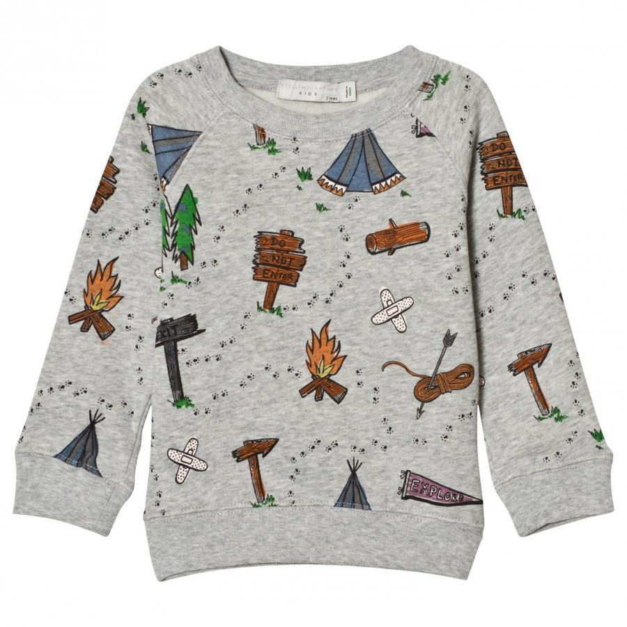 Stella Mccartney Kids Grey Explorer Print Billy Sweatshirt Oloasun Paita