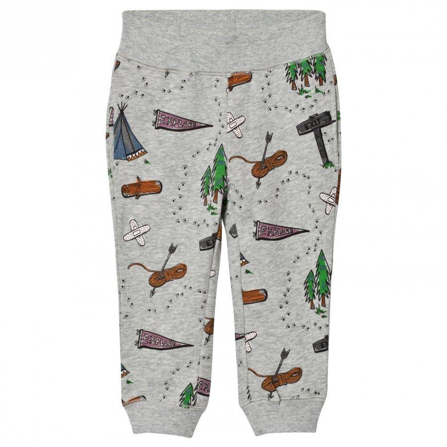Stella Mccartney Kids Grey Explorer Print Zachary Sweat Pants Verryttelyhousut