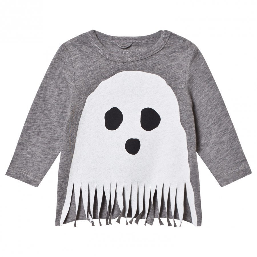 Stella Mccartney Kids Grey Ghost Fringe Georgie Tee T-Paita